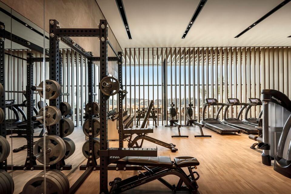 hotelska oprema, fitness u hotelu grand park rovinj